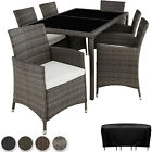 6+1 Rattan Garden Furniture Set 6 Chairs + Table Dining Set Outdoor Wicker