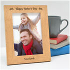 PERSONALISED Engraved Photo Frames FATHERS DAY Gifts Dad Daddy Grandad Presents