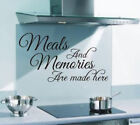 Meals And Memories Are Made Here Funny Kitchen Wall Art Sticker Quote 128