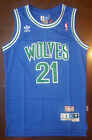 NBA Minnesota Timberwolves Kevin Garnett Throwback Swingman Men Jersey Blue NWT