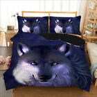 Wolf Duvet Doona Quilt Cover Set Queen King Single Size Bed Pillow Cases Set New