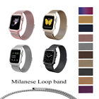 Stainless Steel Magnetic Milanese Loop Band Strap For Apple Watch...