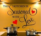 Wall Stickers Quotes This Kitchen Is Seasoned With Love Wall Art Decor Decal