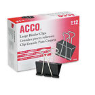 ACCO Brands ACC72100 Large Binder Clip ( Box of 12)