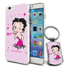 Betty Boop Design Hard Case Cover & Free Keyring For Various Mobiles - 04 $9.46 AUD on eBay