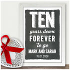 Personalised 10th Tin Wedding Anniversary Gifts Ten Years Chalkboard Style Gifts