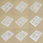 A4 DIY Layering Stencils Painting Template Rose Balloon Reusable Washable Crafts