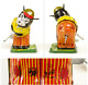 Tokyo Praising Shokai 1959's MECHANICAL BEAR GOLFER with box Antique Toy A34