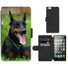 Phone Card Slot PU Leather Wallet Case For Apple iPhone Dog Puppy Pattern