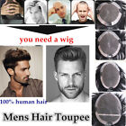 Big Base for Mens Human Hair Topper Hairpiece Toupee Top Replacement