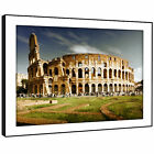 SC476 Colosseum Rome Italy Retro Landscape Framed Wall Art Large Picture Prints