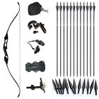 35lbs 45Ibs Archery Recurve Bows Takedown Hunting Right Hand Long Bow Arrows Set