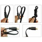 1 / 2 / 3 / 10 Meter Flat HDMI High Speed Ethernet Cable Gold HDTV Xbox 4K 3D