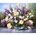 Flower Scenery Paint Oil Painting DIY Kit Canvas Art Craft Office Decor Gift New