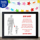 Personalised Happy Fathers Day Gifts for Daddy Dad Poem Gifts from Son Daughter