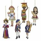 Kurt Adler Christmas International Girl Ornaments France Russia Thailand England