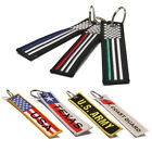 USA Flag Keychain Military Army Pride US Patriotic 4th of July - Many Styles