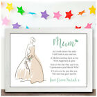 Mother of the Bride Personalised Wedding Thank You Gift Poem for Mum Mam Mummy