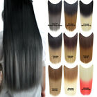 50g 22'' Straight Ombre Fish Line Halo Hair Extensions Synthetic Hairpieces