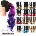 Clip In Wave Ombre Magic Synthetic Hair Ponytail Drawstring Ribbon Hairpiece