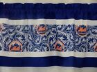 "New York Mets MLB Baseball White Custom Valance Choose:40"", 52"",80"" W x 13"" L on Ebay"