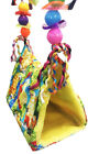 1181 Large Print Parrot Happy Hut Pet Cozzy Cage Snuggle Tent Hammock Bird Toy