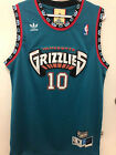 10 Mike Bibby Jersey Vancouver Grizzlies Hardwood Classics Stitched Teal NWT