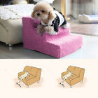 Dog Steps High Bed 3 Steps Pet Stairs Small Dogs Cats Ramp Ladder Portable US
