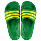NEW Adidas Mens Duramo Sliders Flip Flops Green/Yellow SIZE FROM 6-12 Limited