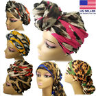 Внешний вид - Long Head Wrap Scarf - African Hair Head Wrap Turban, Animal Print