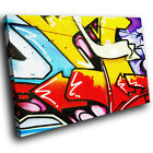 ZAB099 Green Red Graffiti Modern Canvas Abstract Home Wall Art Picture Prints