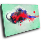 AB684 Red Green Black Funky Modern Abstract Canvas Wall Art Large Picture Prints