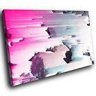 AB1678 Pink Blue Retro Cool Modern Abstract Canvas Wall Art Large Picture Prints