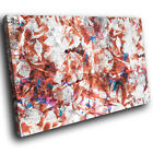 AB1645 Brown Blue Cool Funky Modern Abstract Canvas Wall Art Large Picture Print