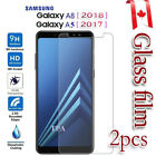 2X Samsung Galaxy A8 2018 Tempered Glass / Plastic LCD Screen Protector Guard
