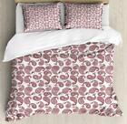 Paisley Duvet Cover Set Twin Queen King Sizes with Pillow Shams Bedding image