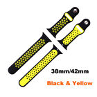 38MM/42MM Sport Silicone Wristwatch Strap Watches Bands For  Series12&3