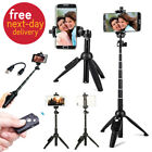 Selfie Stick Tripod Bluetooth Remote Extendable Monopod for iPhone 7 8 X Samsung