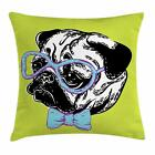 Pug Throw Pillow Cases Cushion Covers by Ambesonne Home Decor 8 Sizes