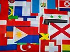 "INTERNATIONAL FLAGS OF HUNDREDS OF NATIONS 5.5"" x 7.87"" POLYESTER"