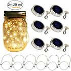 Solar Powered Mason Jar Lid Light 20 Led Fairy Light String Lights Garden Decor