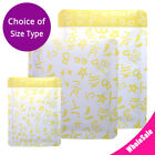 Many Sizes Matte Yellow Aluminium Mylar Open Top Pouch Bag for Facial Mask Y03