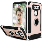 For LG V35 ThinQ/V30 Plus Phone Case Shockproof Hybrid Ring Stand TPU Hard Cover