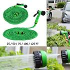 Expandable Flexible Garden Water Hose Pipe w/ Spray Nozzle Gun 25 50 75 100 Feet