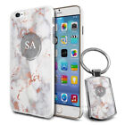 Personalised Marble Design Phone Case Cover & Keyring for Various Phones - 235