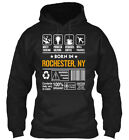 Born In Rochester Ny Customizable City - Multi Tasking Gildan Hoodie Sweatshirt