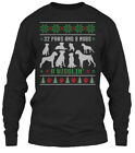 Boxer Dog Ugly Christmas Sweater - 32 Paws And 8 Gildan Long Sleeve Tee T-Shirt