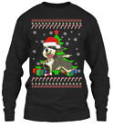 Cozy Bearded Collie Ugly Christmas Sweater Gildan Gildan Long Sleeve Tee T-Shirt