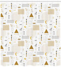 Retro Indie Pattern Shower Curtain Fabric Decor Set with Hooks 4 Sizes