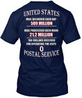 Postal Proud - United States Mail Delivered Each Day Hanes Tagless Tee T-Shirt